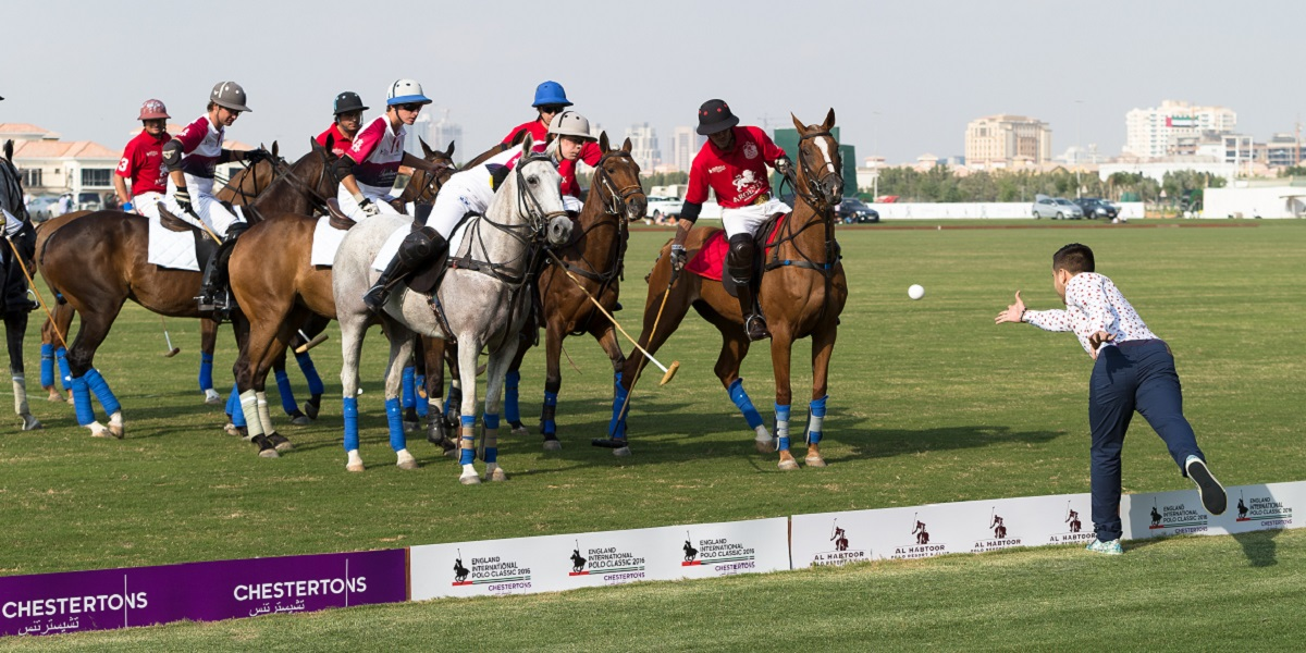 <img src='/Library/Images/pony.png' class='pony' /><br />The England and Habtoor UAE Polo Teams battle it out in their first ever test match